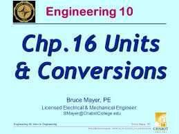 Chp 16 Units Conversions Ppt Video Online Download