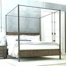 surprising 4 post bed frame king – Geometrix