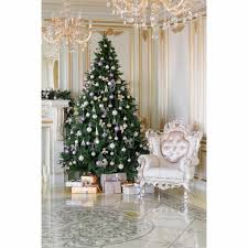 Us 931 33 Offallenjoy Christmas Backdrop Tree Ball Chair Chandelier Gift Royal Professional Backdrop Background Pictures Oxford Cloth In