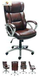 Broyhill Executive Chair Office Bonded Large Leather Desk  Arms Wheels Brown Seat Computer Brown Leather Desk Chair B84
