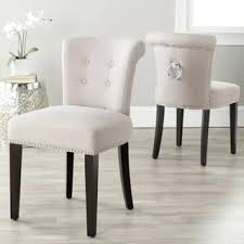safavieh en vogue dining carrie taupe linen chairs set of 2 low back dining chairs e87