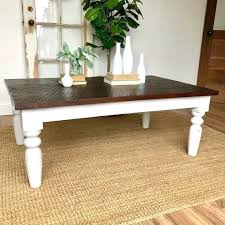 off white farmhouse coffee table rustic distressed wooden