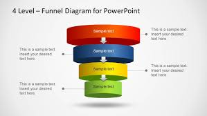 Powerpoint Funnel Chart Template 4 Level Funnel Diagram Template For Powerpoint
