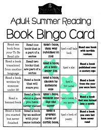 Adult Summer Reading Book Bingo Card from Sharon Public Library ...