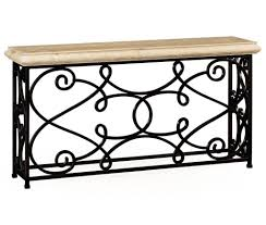 iron console table. Impressive Wrought Iron Console Table Design With Marble Top