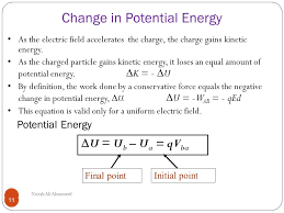 change in potential energy