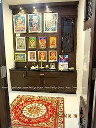 Pooja Room In Living Room Designs Pooja Room Minimalist Living Room By Amar Dexign Scape
