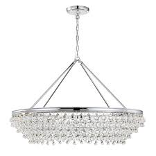 calypso large round chandelier by crystorama