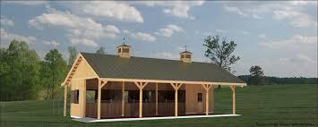 springcreek is a 3 stall breezeway pole barn