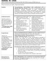 Pharmaceutical Sales Resumes Examples Medical Sales Resume Medical