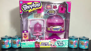Shopkins Cupcake Queen Cafe Playset Food Fair Blind Boxes Opening