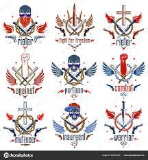 эмблемы революции Riot агрессивной логотип сильным сжал кулак