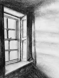 window pencil drawing. #pencil #window #charcoal #light #shadows window pencil drawing a