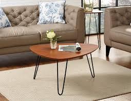 32 hairpin leg wood coffee table in