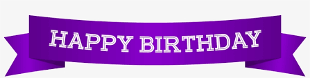 Purple Happy Birthday Banner Happy Birthday Banner Purple Png Clip Art Image Happy Birthday