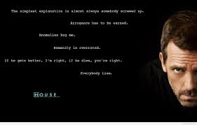 dr house awesome new quote