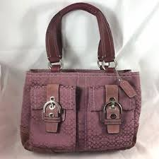 Image is loading Coach-Purple-Lilac-Satchel-Shoulder-Bag-3646-Medium-