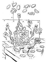 Small Picture Spongebob Squarepants Cooking Coloring Page Boys Coloring Pages
