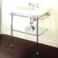 chrome bathroom sink legs for console vessel faucet