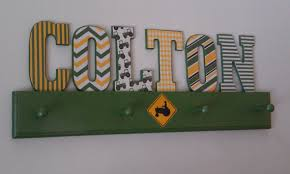 John Deere Coat Rack TractorJohn Deere Inspired Letters CustomRoom Decor Coat Racks 3