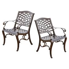 Wonderful Cast Aluminum Patio Chairs Sarasota Set Of 2 Chair With Simple Ideas