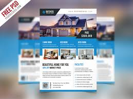 real estate flyer templates clean real estate flyer template psd psdfreebies com