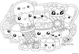 Coloriage Kawaii Sweets Colour Manga Cute Jecolorie Com