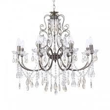 antique brass chandelier 8 light dual mount traditional home lighting litecraft