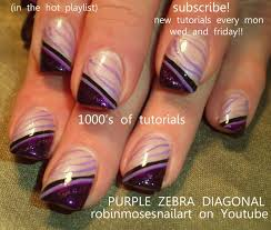 Nail art zebra stripes ~ Beautify themselves with sweet nails