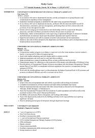 Cota Resume Certified Occupational Therapy Assistant Resume Samples Velvet Jobs 2