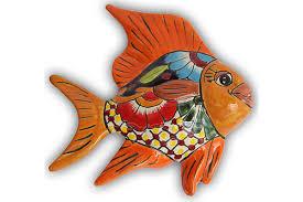 mexican ceramic fish wall art