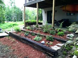 tiered flower beds raised garden beds with railroad ties railroad ties for tiered garden bed raised