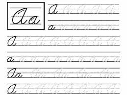 4th Grade Cursive Writing Worksheetshandwriting