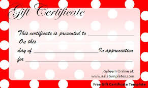 Plain Gift Certificate Template Free Gift Certificate Template Word