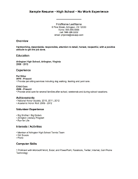No Job Experience Resume Samples Ataumberglauf Verbandcom