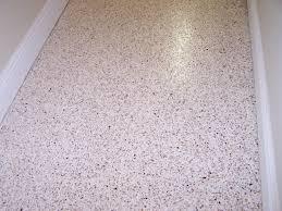 FLOORING Cozy Terrazzo Flooring With White Baseboard
