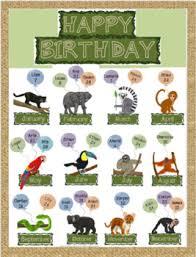 Jungle Safari Birthday Chart
