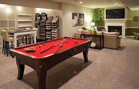 basement pool table.  Basement Pool Tables Carpet Transitional Basement With Metal Fireplace  Table Price With Basement Pool Table N