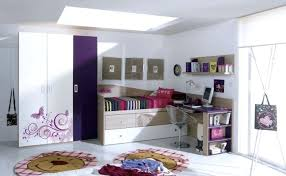 desk and bed combination attached in the corner platform bed with desk attached