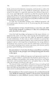 conclusions and recommendations mathematics learning in early  page 346