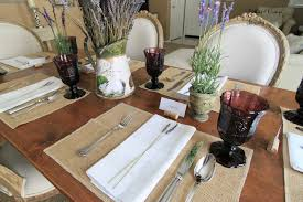 Table Setting In French Peonies And Orange Blossoms Lavender French Country Table Setting