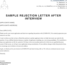 Job Interview Rejection Letter Example Ideas Of With Additional