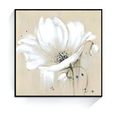 white flower wall art white color abstract flower wall art oil painting home decoration bedroom living room painting canvas unframed target white flower