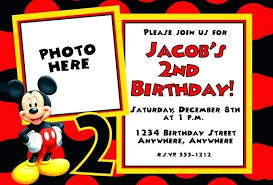 Mickey Mouse Invitations Online Mickey Mouse Invitation Templates