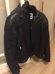 teknic leather motorcycle motorbike jacket size 44