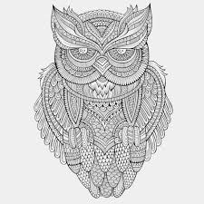 Small Picture Advanced Owl Mandala Coloring Page Hard Coloring Pages