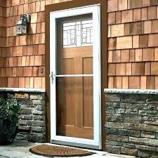 front screen doors with glass wood storm doors with glass panels home depot wood screen doors