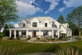 Modern Farmhouse Home Designs Modern Farmhouse With Angled 3 Car Garage 62668dj 3d Home