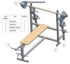 subassembly list flat bench press subassembly parts list weight set subassembly parts list