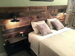 Rustic King Bed Frame Bed With Built In And Storage Storage ...